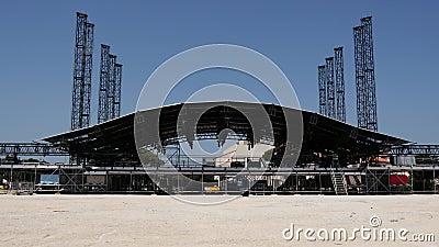 Escena del festival al aire libre metrajes