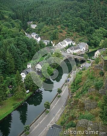 Esch-sur-Sûre and river Sauer