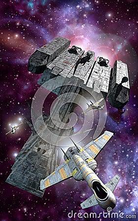 Escort spaceships
