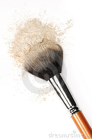 Escova & pó cosméticos