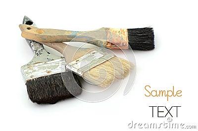Escovas de pintura velhas