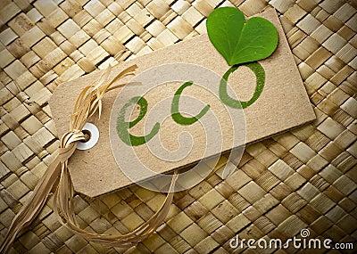 Escritura de la etiqueta cómoda de Eco