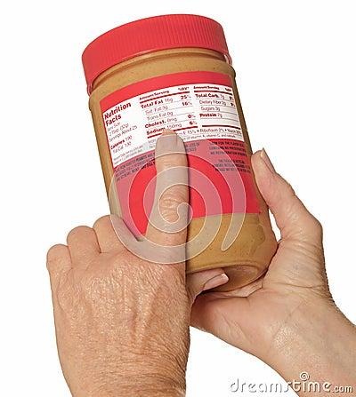 Escritura de la etiqueta de la nutrición