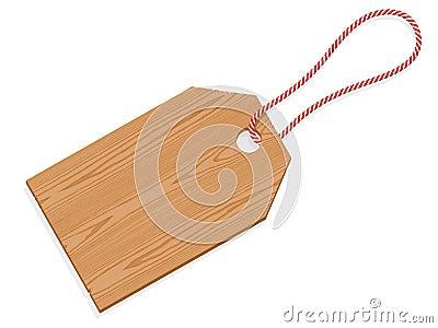 Escritura de la etiqueta de madera de la etiqueta