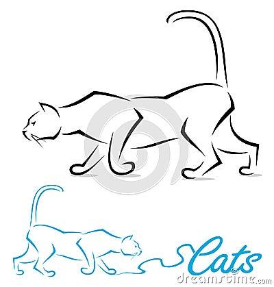 Escritura de la etiqueta del gato