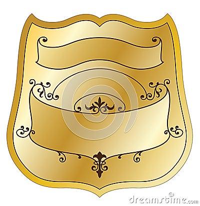 Escritura de la etiqueta del producto del oro