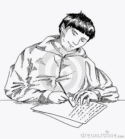 Escritura de una letra