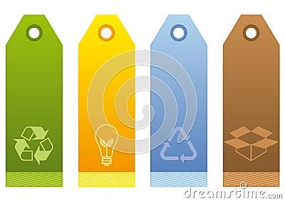Escrituras de la etiqueta ecológicas