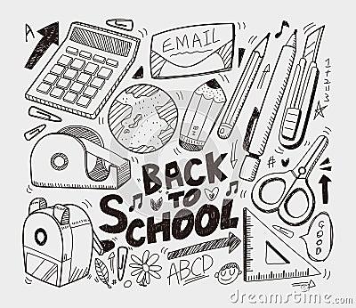 Escuela - colección de los doodles