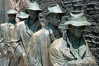 Escultura da fome do memorial de Franklin Roosevelt Imagem Editorial