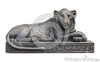 Escultura egipcia del león