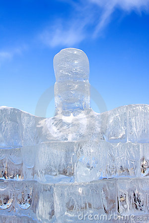 Escultura helada