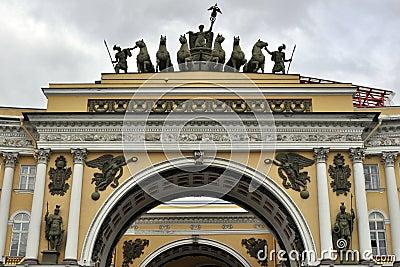 Esculturas & relevo no estado maior geral imperial do exército