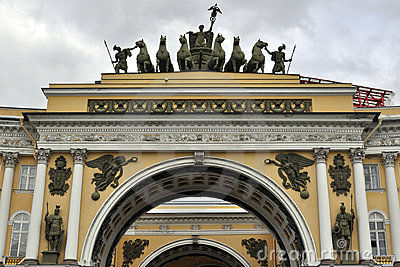 Esculturas y relevación en el estado mayor general imperial del ejército