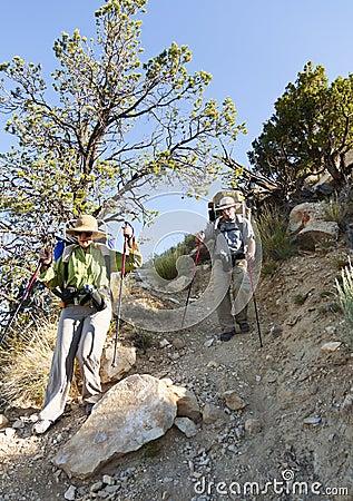 Escursione estrema in canyon grande