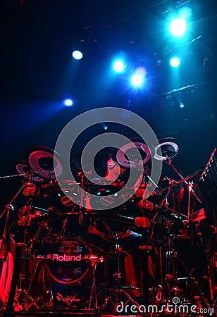 Artista Omar Hakim del batterista Fotografia Editoriale
