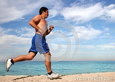 Esercitandosi sulla spiaggia