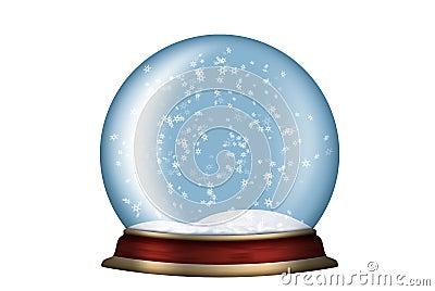 Esfera de cristal con la nieve aislada im genes de archivo - Bola nieve cristal ...