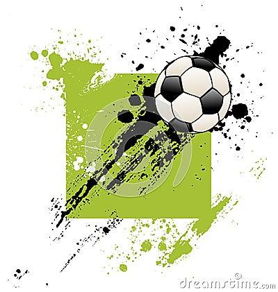 Esfera de futebol de Grunge