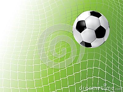 Esfera de futebol na rede