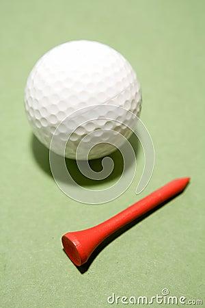 Esfera e T de golfe