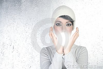 Esfera futurista del vidrio de la luz de la mujer de la caja de fortuna