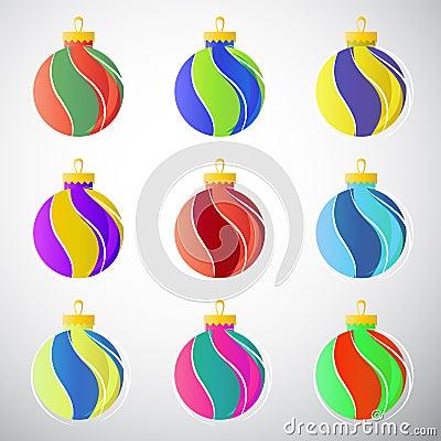 Esferas da decoração do Natal