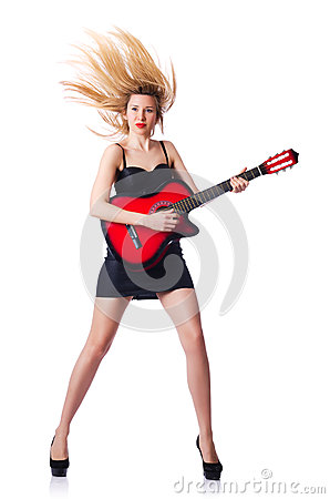 Żeńska gitara