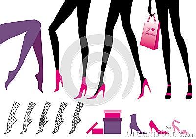 żeńskie nogi
