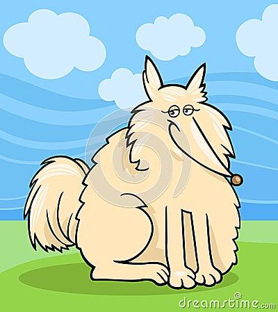 Eskimo dog cartoon illustration