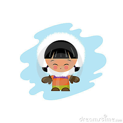 Eskimo kid illustration