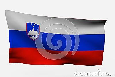 Eslovenia 3d flag