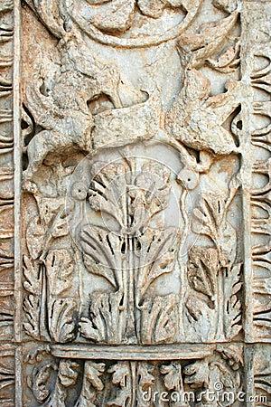 Esmirna-pavo de las ruinas de Ephesus