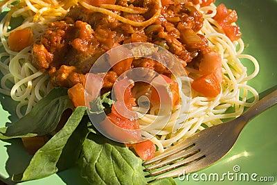 Espagueti boloñés