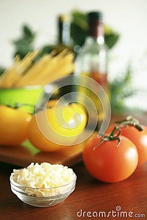 Espagueti y tomates