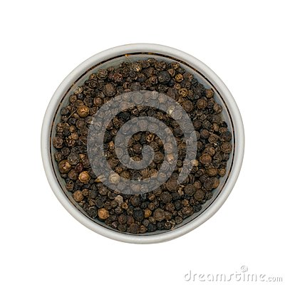 Especias de la pimienta negra