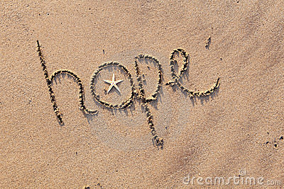 Esperança escrita na areia