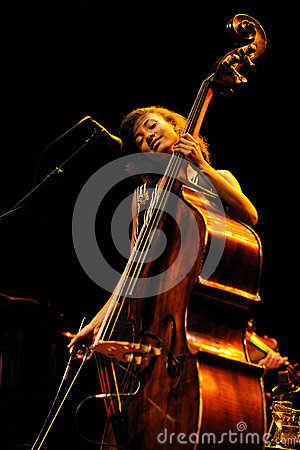 Free Esperanza Spalding (American Jazz Bassist, Cellist And Singer) Performs At Auditori Stock Photos - 43877953