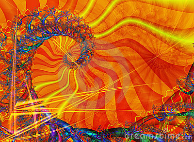 Espiral con el colorante asoleado
