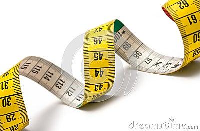 Espiral de medição da fita