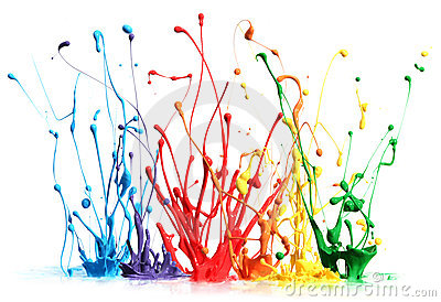 Espirro colorido da pintura