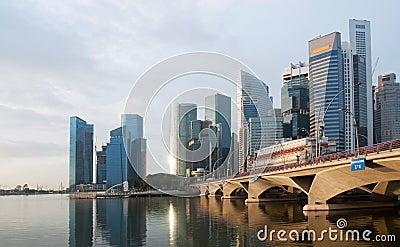 Esplanade Bridge and Financial District