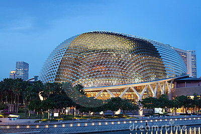 Singapore Esplanade Picture on Stock Photography  Esplanade Theater  Singapore Waterfront  Image