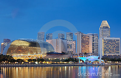 Esplanade Theatres by Singapore waterfront