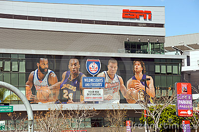 ESPN at the Staples Center Editorial Stock Image