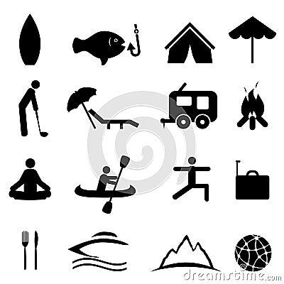 Esportes e ícones da recreação