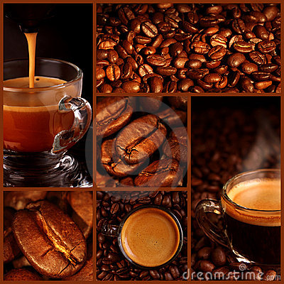 Espresso coffee collage