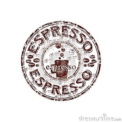 Espresso rubber stamp