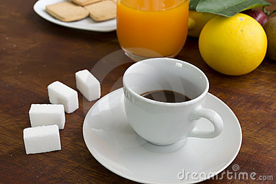 Espresso on a table