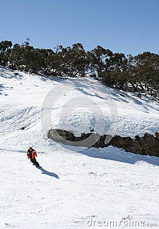 Esquiando em Victoria, Austrália